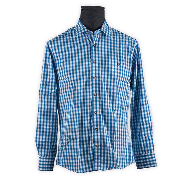 Trachtenhemd Herren, blau
