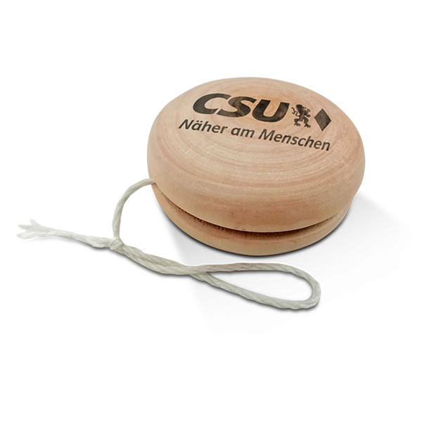 CSU-Jo-Jo aus Holz