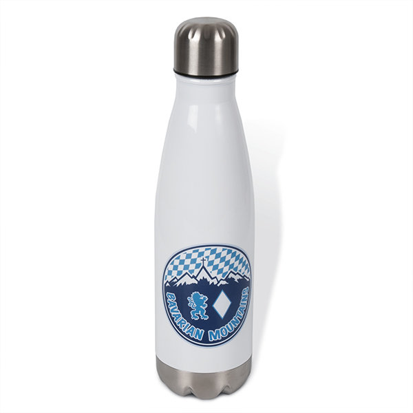 "Thermosflasche ""Bavarian Mountains"", weiss"