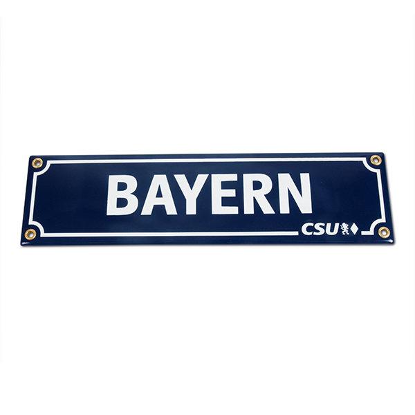 Emailleschild Bayern & CSU (15 x 60 cm)