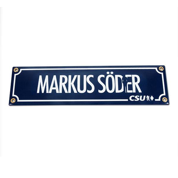Emailleschild Markus Söder (15 x 60 cm)