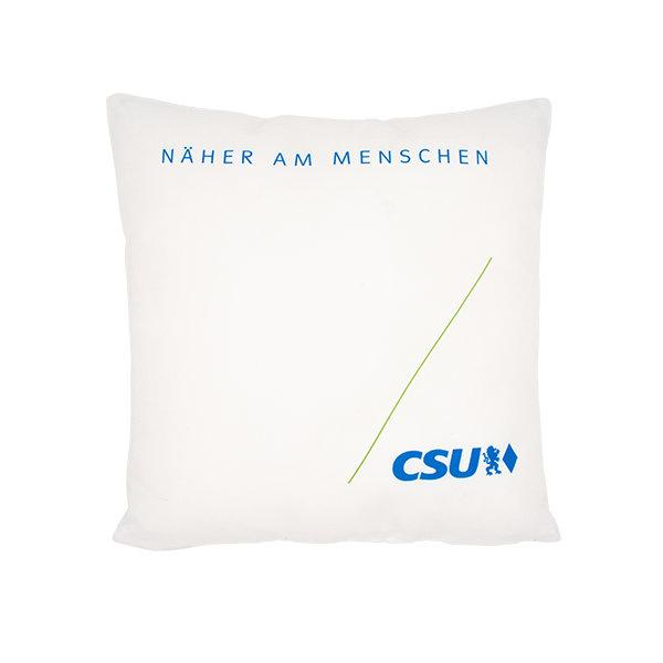 CSU-Kissen mit weiß-blauem Bezug