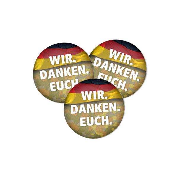 Wir. Danken. Euch-Button Deutschland