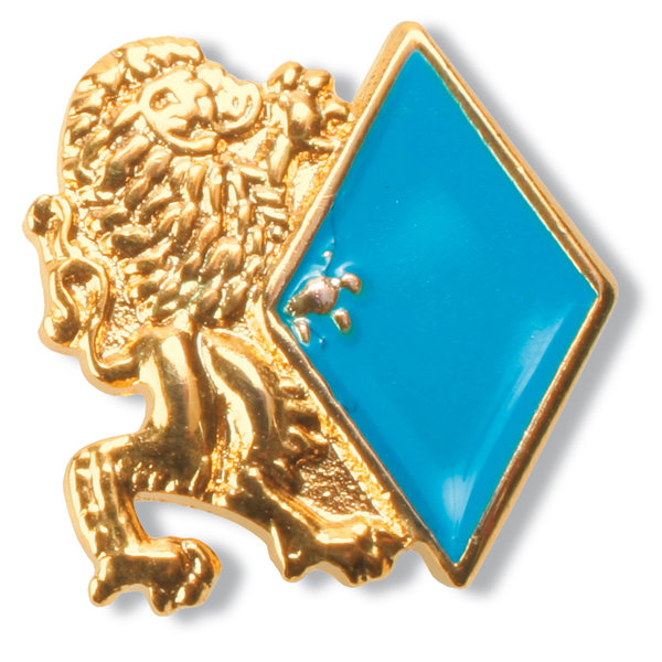 "Pin ""Löwe + Raute"" (gold)"