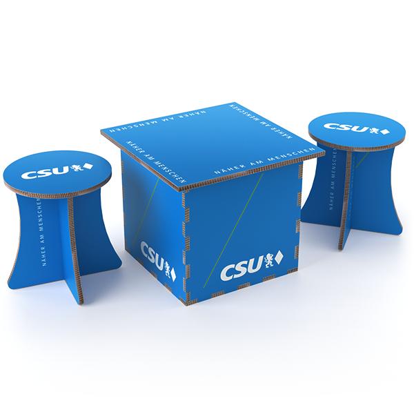 CSU-Sitzgruppe aus Wabenpappe