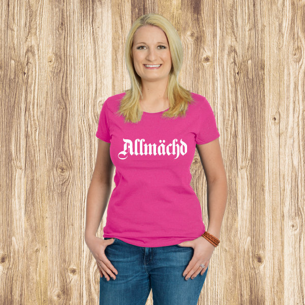 Damen T-Shirt, Fruit of the Loom - Allmächd