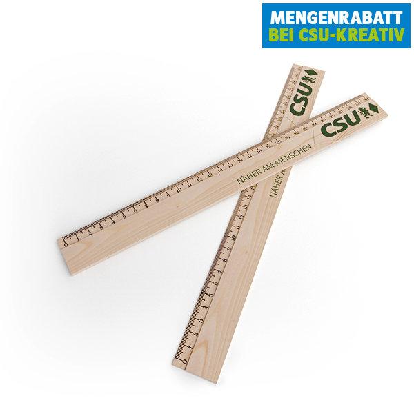 CSU-Lineal aus Zedernholz