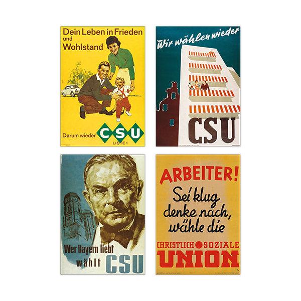 Set historische Wahlplakate (4 Fototafeln)