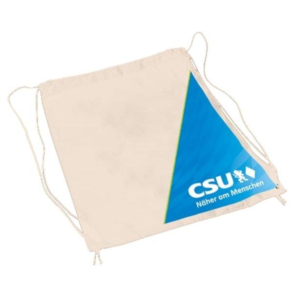 CSU-Baumwollrucksack Raute+NAM