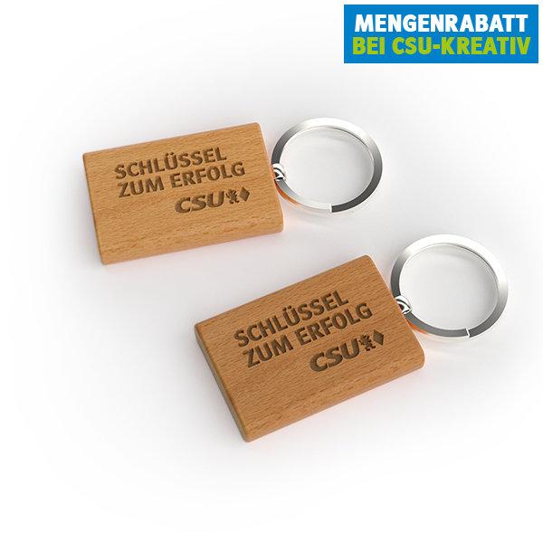 CSU-Schlüsselanhänger Holz