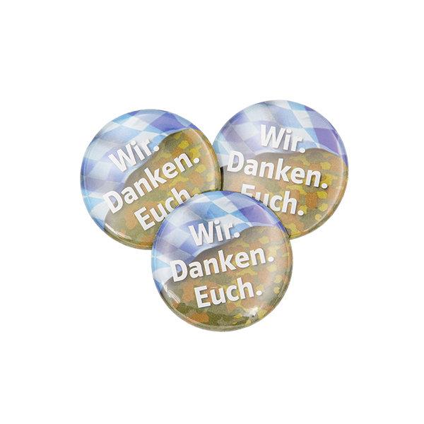 Wir. Danken. Euch-Button Bayern