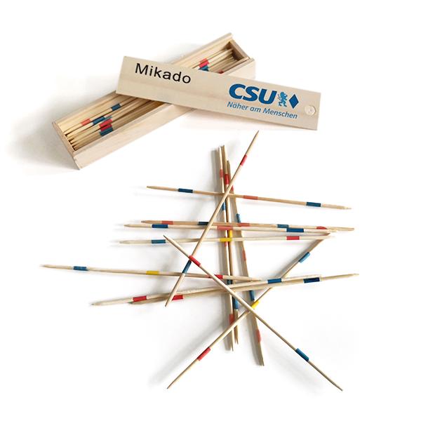 CSU-Mikado aus Holz