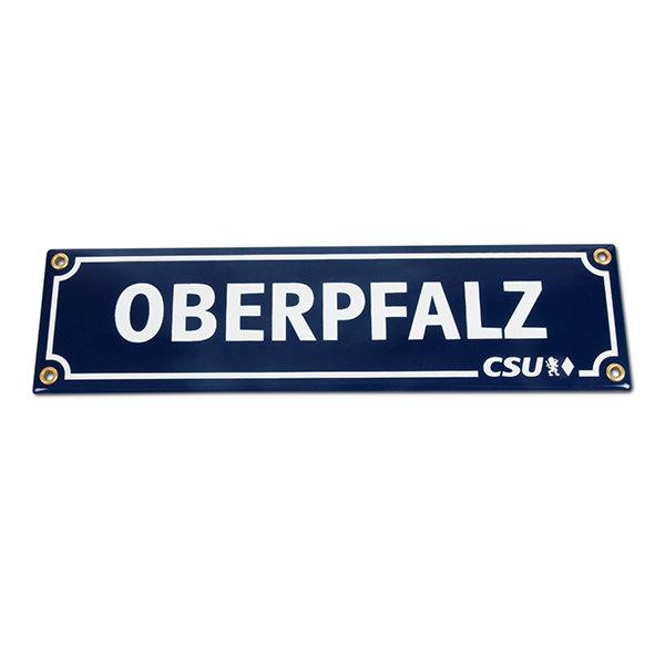 Emailleschild Oberpfalz & CSU (8 x 30 cm)