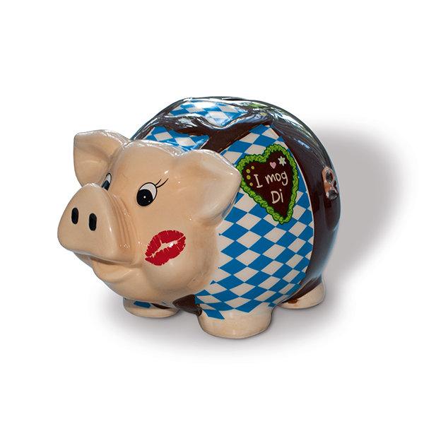 "Oktoberfest Sparschwein ""I mog Di"""