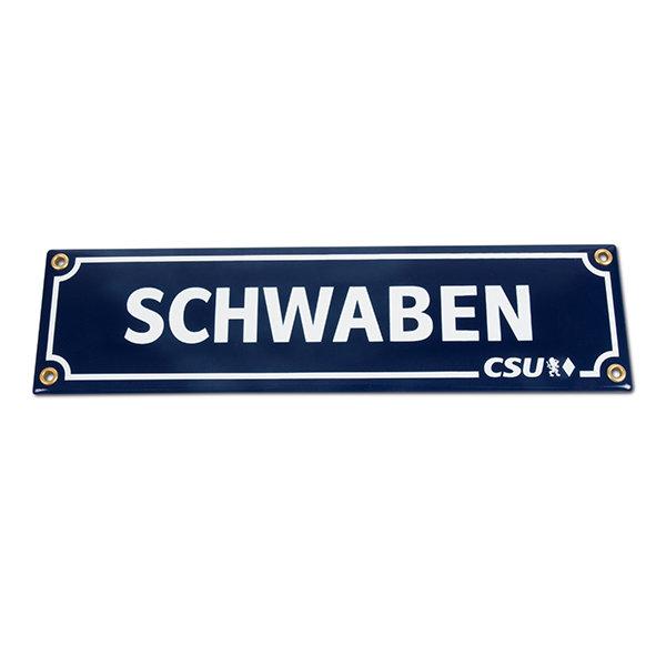 Emailleschild Schwaben & CSU (8 x 30 cm)